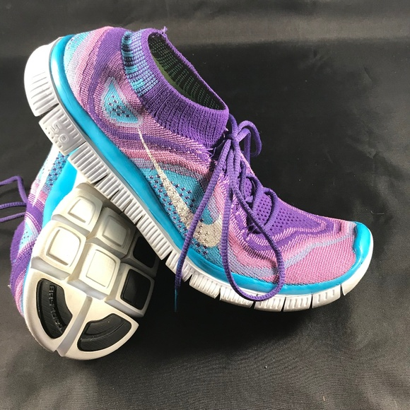 order online new lower prices hot product Excellent Womens NIKE Flyknit Free 5.0 Rainbow